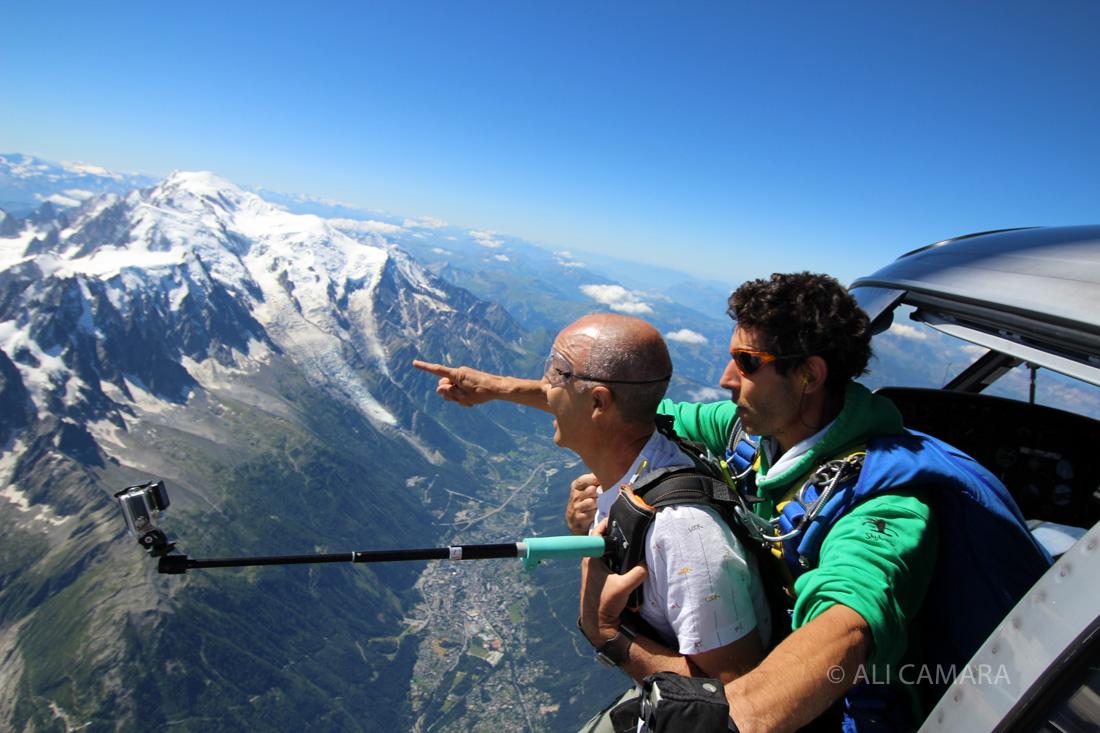 Baptême saut en parachute - Chamonix Mont-Blanc