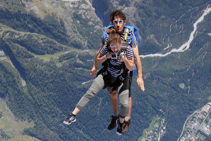 Baptême saut en parachute
